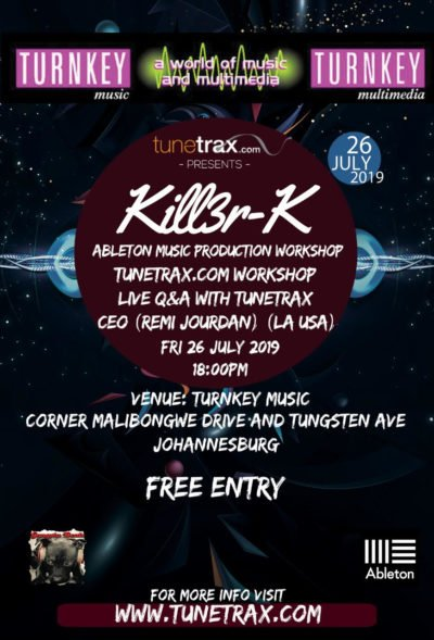 Tunetrax Workshop for artists - South Afria